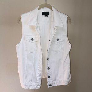 Vince white jean vest